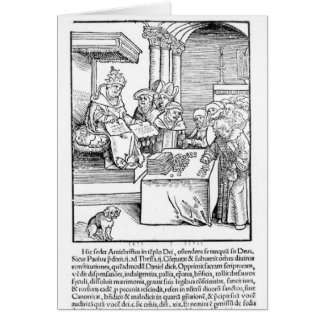 The Pope selling Indulgences Greeting Card