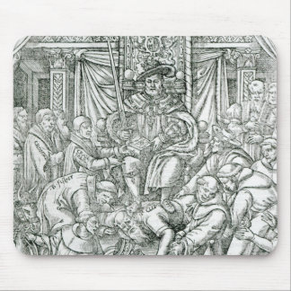 The Pope suppressed by King Henry VIII, 1534 Mouse Mat