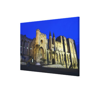 The Pope's Palace in Avignon at sunset. Built 2 Canvas Print