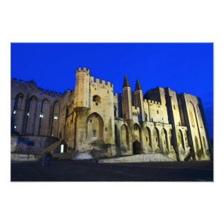 The Pope's Palace in Avignon at sunset. Built 2 Photograph