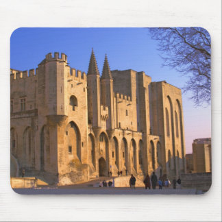 The Pope's Palace in Avignon with people Mouse Mat