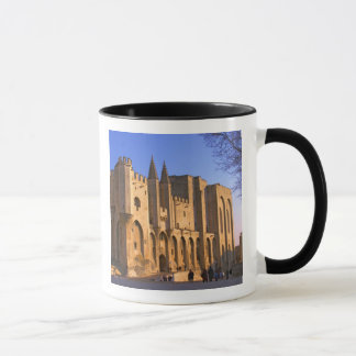 The Pope's Palace in Avignon with people Mug