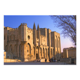 The Pope's Palace in Avignon with people Photo Print