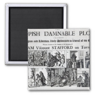 The Popish Damnable Square Magnet