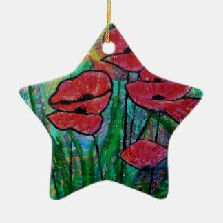 The poppy blossom christmas ornament