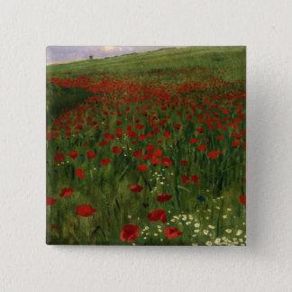 The Poppy Field, 1896 15 Cm Square Badge