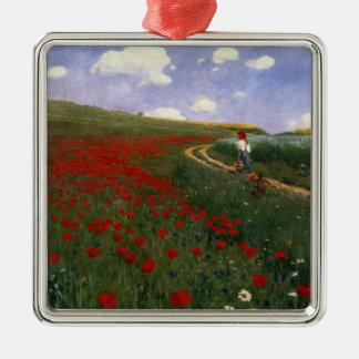 The Poppy Field Christmas Ornament