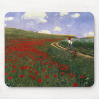 The Poppy Field Mouse Mat