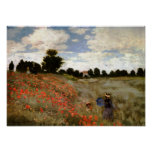 The Poppy Field near Argenteuil by Claude Monet Posters