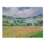 The Poppy Field near Giverny, 1885 Postcard