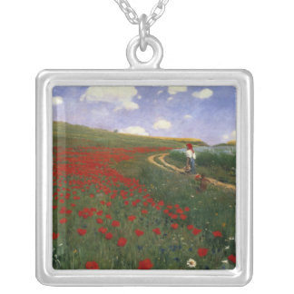 The Poppy Field Silver Plated Necklace