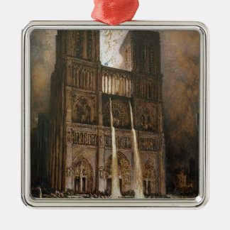 The Populace Besieging Notre-Dame Christmas Ornament