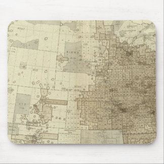 the Population density of counties Mouse Pad