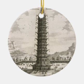 The Porcelain Tower, from an account of a Dutch Em Christmas Ornament