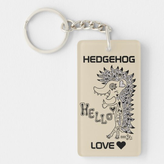 The porcupine (hello) monochrome which has the key ring