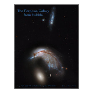 The Porpoise Galaxy from Hubble (NGC 2936) -poster Poster