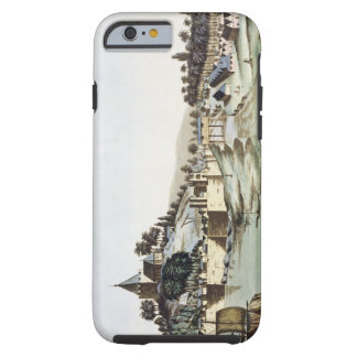 The port and town of Malacca, Malaysia, illustrati Tough iPhone 6 Case
