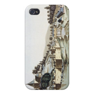 The port and town of Malacca, Malaysia, illustrati Case For The iPhone 4