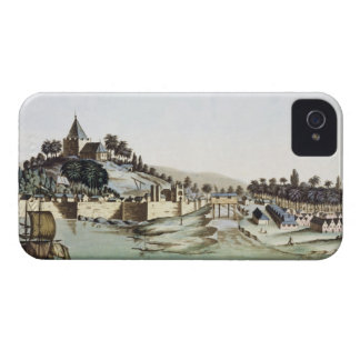 The port and town of Malacca, Malaysia, illustrati Case-Mate iPhone 4 Cases