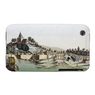 The port and town of Malacca, Malaysia, illustrati iPhone 3 Case-Mate Case