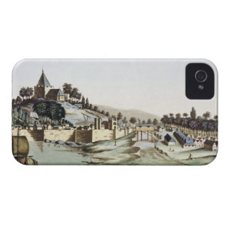 The port and town of Malacca, Malaysia, illustrati iPhone 4 Case-Mate Cases