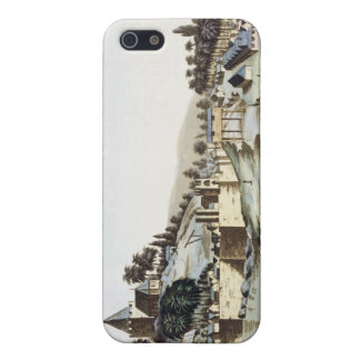 The port and town of Malacca, Malaysia, illustrati iPhone 5/5S Cases