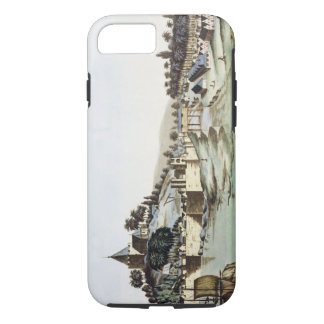 The port and town of Malacca, Malaysia, illustrati iPhone 7 Case