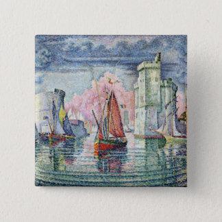 The Port at La Rochelle, 1921 15 Cm Square Badge