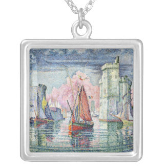 The Port at La Rochelle, 1921 Silver Plated Necklace