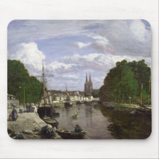 The Port at Quimper, 1857 Mouse Mat