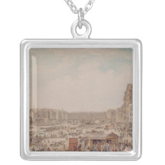 The Port au Ble and the Pont Notre-Dame, 1782 Silver Plated Necklace
