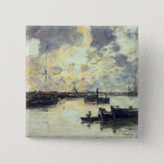 The Port, c.1895 (oil on panel) 15 Cm Square Badge