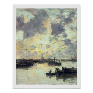 The Port, c.1895 (oil on panel) Poster