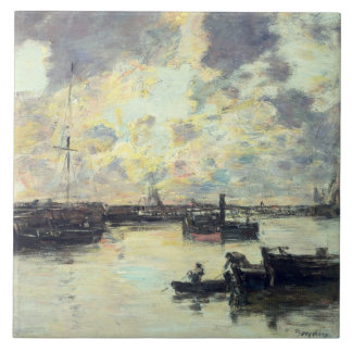 The Port, c.1895 (oil on panel) Tile