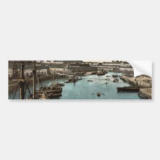 The Port Militaire from swing bridge, Brest, Franc Bumper Sticker