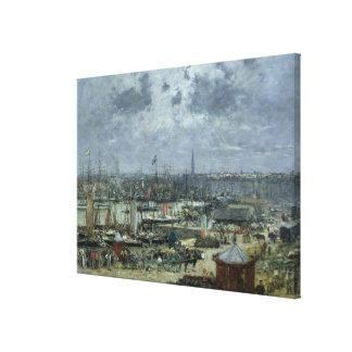 The Port of Bordeaux, 1874 Canvas Print