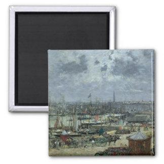 The Port of Bordeaux, 1874 Magnet