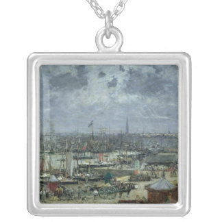 The Port of Bordeaux, 1874 Silver Plated Necklace
