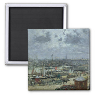 The Port of Bordeaux, 1874 Square Magnet