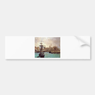 The Port of Bordeaux by Edouard Manet Bumper Sticker