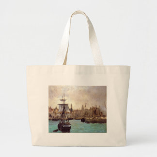 The Port of Bordeaux by Edouard Manet Jumbo Tote Bag