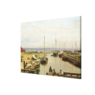 The Port of Dragor, 1826 Canvas Print