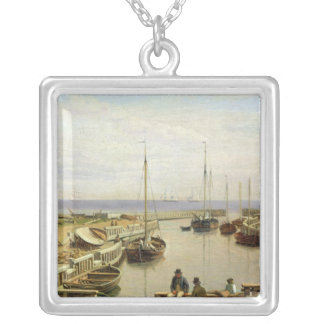 The Port of Dragor, 1826 Silver Plated Necklace