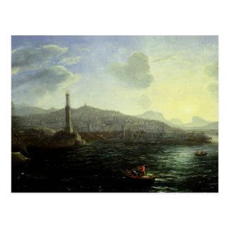 The Port of Genoa, Sea View Postcard