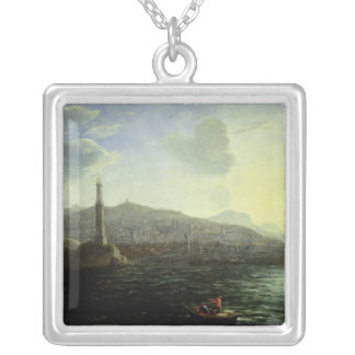 The Port of Genoa, Sea View Silver Plated Necklace