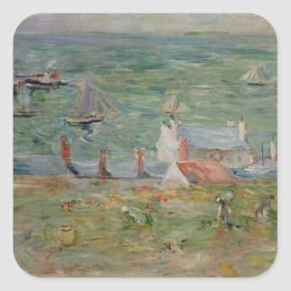 The Port of Gorey on Jersey, 1886 Square Sticker
