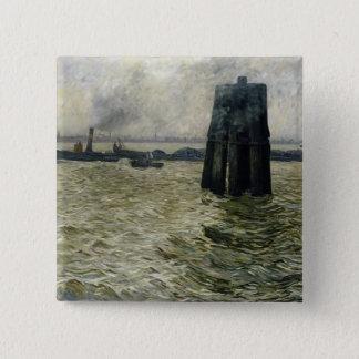 The Port of Hamburg, 1894 15 Cm Square Badge