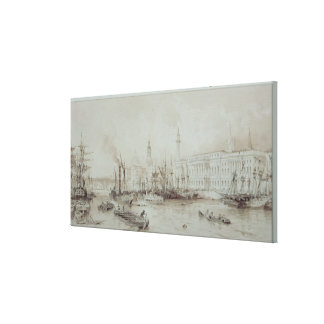 The Port of London Stretched Canvas Prints