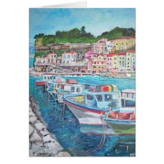 The Port of Marina Grande - Greeting Card