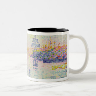 The Port of Marseilles, c.1909 (oil on canvas) Two-Tone Coffee Mug